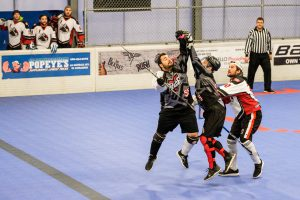image of: ball hockey player
