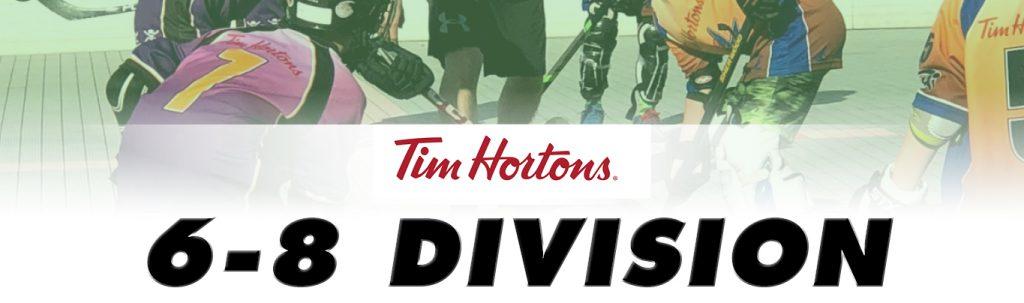 tim hortons age 6-8 ball hockey league