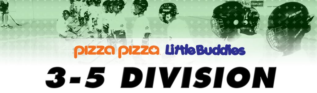 pizza pizza little buddies 3-5 age ball hockey division