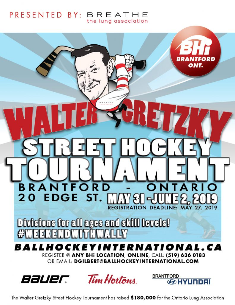 2019 walter gretzky street hockey tournament poster