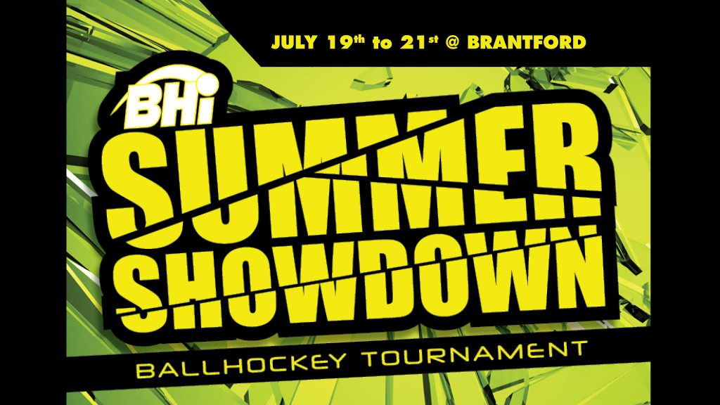 summer showdown ball hockey tournament banner