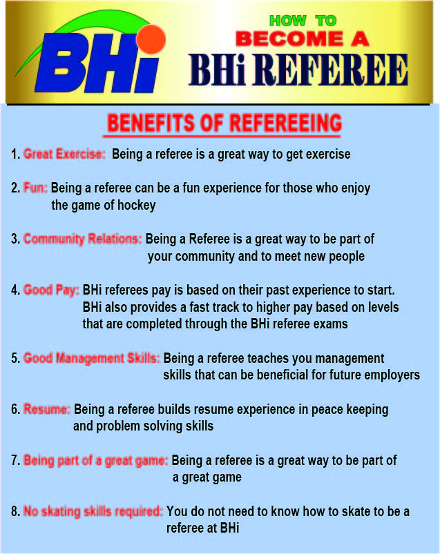 Referee Benefits